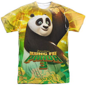 New-Authentic-Kung-Fu-Panda-3-Movie-Po-and-Friends-Sublimation-Front-T-shirt-top