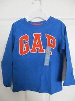 Boys Gap Logo Embroidered Royal Blue Long Sleeve Shirt Size 2 , 3 . 4 , 5