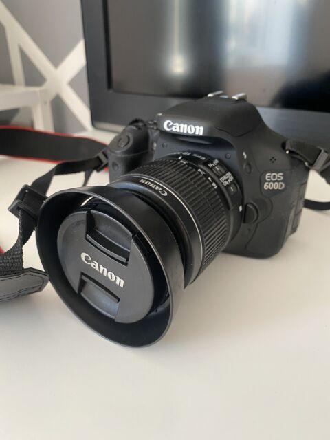 Canon EOS 600D 18.0MP Appareil Photo Reflex Numérique-Noir (Kit Avec EF-S 18-55 mm IS II...
