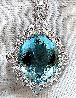"GIA Certified 33.71ct. Natural ""Blue"" Aquamarine Diamonds necklace   AvisDiamond"