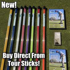 Golf Alignment Sticks Swing Plane Tour Training Aid Practice Rods 2 Pcs Orange