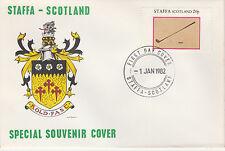 GB Locals - Staffa 3823 - 1982 SPORTS - GOLF 20p perf single on FDC