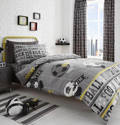 Fußball Tor Angelgerät Grau Baumwollgemisch Einzeln 3 Stück Bettwäsche Set Um 50 Prozent Reduziert Möbel & Wohnen Bettwäsche