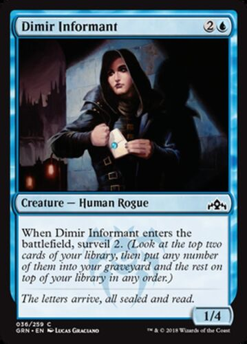 4x Dimir Informant Guilds of Ravnica PLAYSET Common