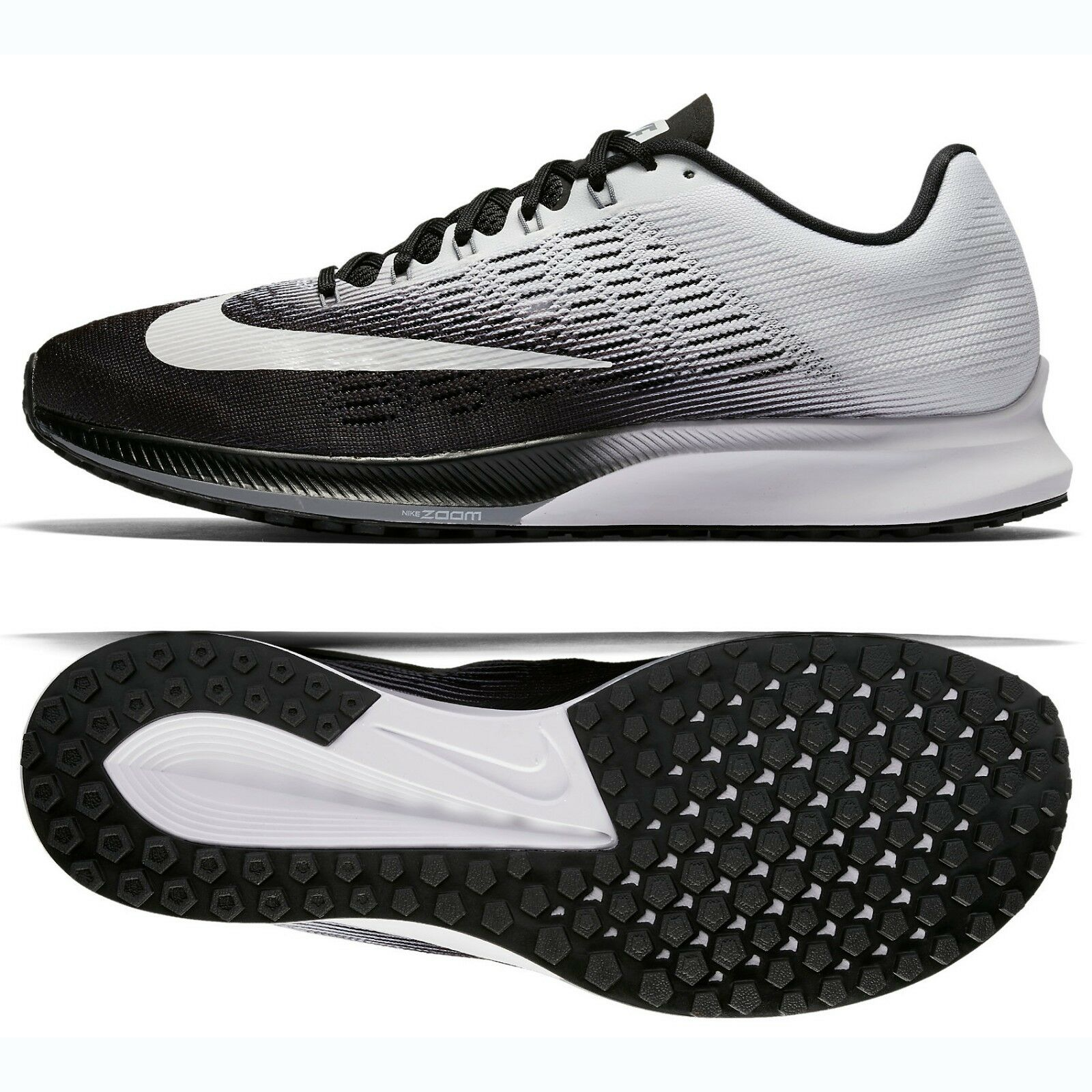 Nike Air Zoom Elite 9 863769-001 Black Stealth White Men's Running shoes