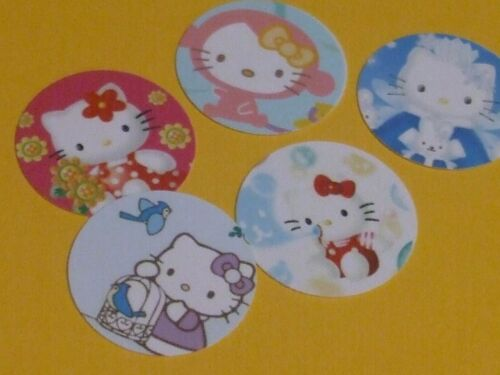 Pre Cut One Inch HELLO KITTY Bottle Cap Images FREE SHIP