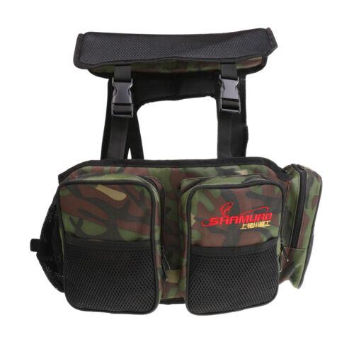 Seat Box Fishing Backpack Camping Tackle Bag Seat Box Harness Converter