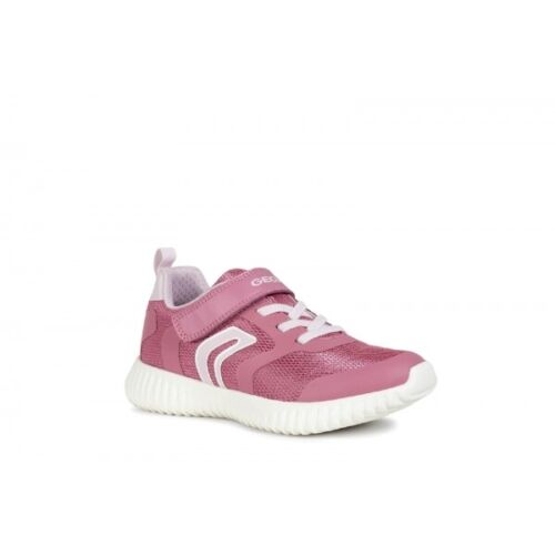 GEOX WAVINESS Girls Breathable Lightweight Textile Touch Fasten Casual Trainers