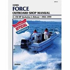 clymer force 90 hp outboard service shop engine repair manual 1984 rh ebay com Force Outboard Shop Manual 85 Force Outboard Diagram