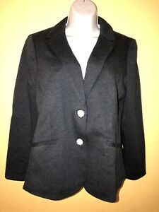16 petite Talbots button Cotton Two Nwt aberdeen Black Blazer xawROCq