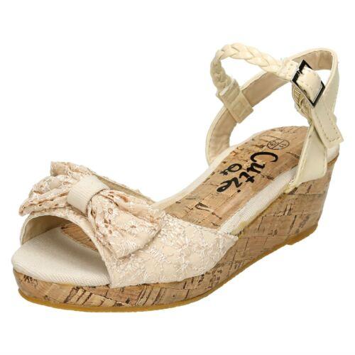 Sandales à beiges Girl compensées Cutie ouvert et bout zqS5pwU
