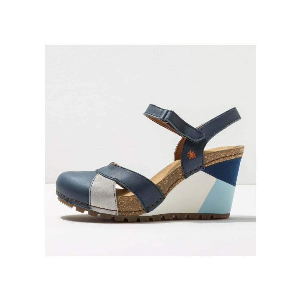Art Company 1335 Guell Closed Toe Wedges Blue Jeans