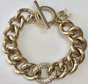 d817dfa80e802 Victoria's Secret Gold Tone Chain Rhinestone Angel Wings Charm ...