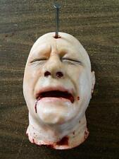 HALLOWEEN HORROR MOVIE PROP Life size Severed Head 3D Wall Art - Nailed Ned