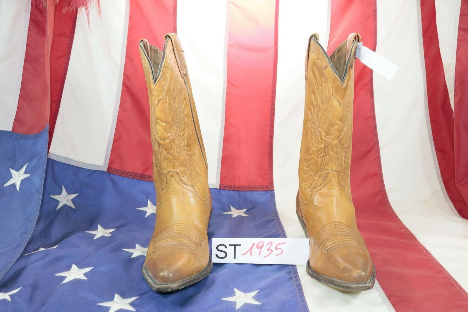 Boots Charro ( Cod. St1935) Used N.43 Mens Brown Leather Cowboy Country Bikers