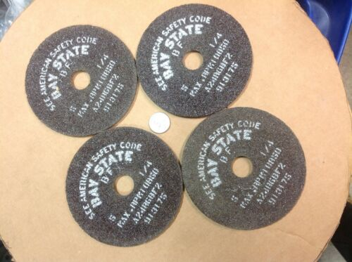 4 pieces bay state grinding and cut off wheels 5 inch x 7//8 arbor x 1//4 wide