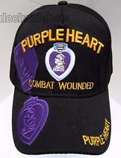 PURPLE HEART VETERAN Cap / Hat Black Combat Wounded Military