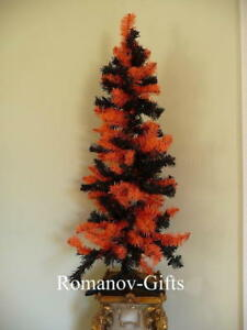 Details About Orange Black Christmas Tree 4 Ft New Halloween Autumn With Matching Skirt
