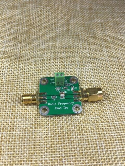Bias Tee Wideband 1MHz-3GHz for HAM radio RTL SDR LNA Low Noise Amplifier 50VDC