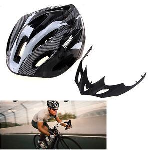 Nuevo-Bicicleta-de-Carretera-Carreras-Ciclismo-Casco-Visor-Ajustable-Carbono-MTB
