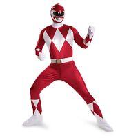 Red Ranger Super Deluxe Adult Power Ranger Costume   Disguise 55616