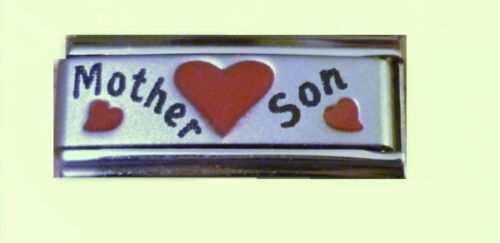 Italian Charms Superlink Charm L96  Love Mother Son Fits Classic Size Bracelet