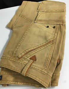 Polo-Ralph-Lauren-Womens-Jeans-Beige-Khaki-2-Leather-Trim-Cargo
