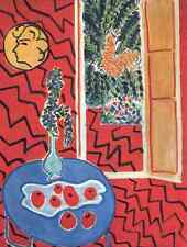 Henri Matisse Interior Rojo, todavía en una mesa Azul A3 Foto impresión