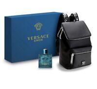 Versace Eros Eau de Toilette 3.4 oz Fragrance Set with Versace Backpack
