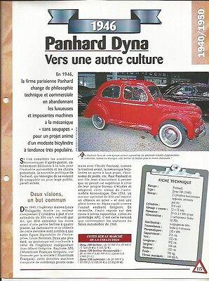 Rispettoso Voiture Panhard Dyna 100 Fiche Technique Auto 1946 Collection Car