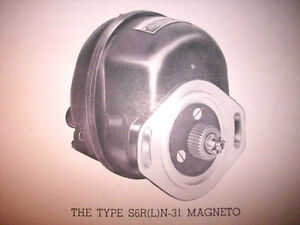 Bendix-Scintil<wbr/>la Magnetos S6RN-31 and S6LN-31 Service Tech Data Booklet