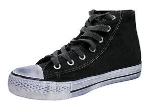 Homme Baskets Noir Hautes Chaussures 45 Lacets 40 À Blanc Toile rrB7qd