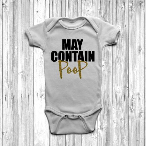 Puede contener Caca Bebé Crecer Cuerpo Suit Chaleco 0-18 meses regalo divertido Rude