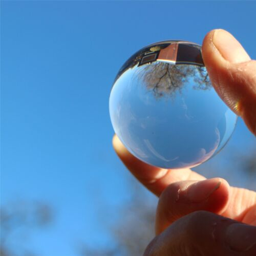 2 x 50mm Polished Clear Plastic Sphere Transparent Perspex Acrylic Spheres Balls