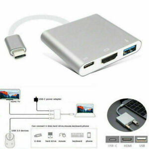Type-C USB 3.1 To USB-C 4K HDMI USB 3.0 Charging Port Adapter Hub For Apple Mac