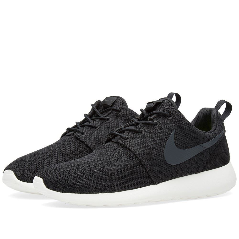 Homme 511881-010 Nike Roshe One Noir Anthracite voile taille 8-12 NEW IN BOX