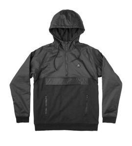 de shirt style zippé Rvca anorak noir Sweat capuche Pull noir Function à XO80Pkwn