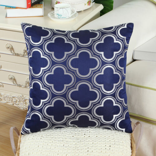 Throw Pillow Covers Cases Shells Covers Quatrefoil Chains Geometric 18X18 Inches