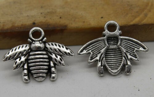 50//100pcs Retro style bee Charm Pendant DIY Jewellery crafts 20x16mm