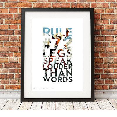 Le Gambe Sono Più Eloquenti Delle Parole ❤ ❤ Ciclismo Bici Poster Art Print 5 Taglie # 49 Rapha-
