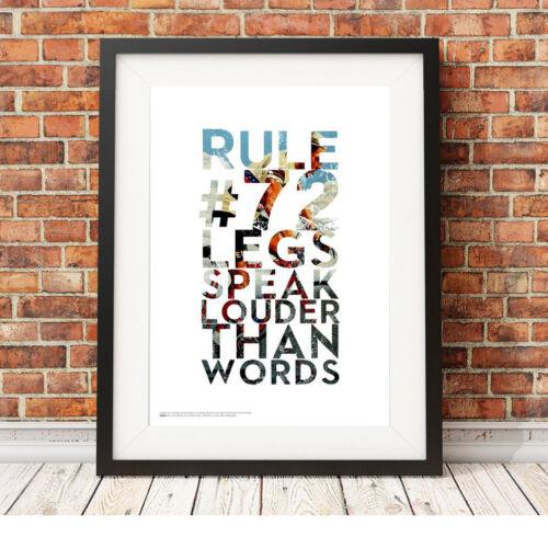 Jambes de parler plus fort que mots ❤ Cyclisme ❤ Vélo Poster Art Print 5 Tailles #49 Rapha