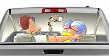 Truck Rear Window Decal Graphic [Search for Spare Change] 20x65in DC36504