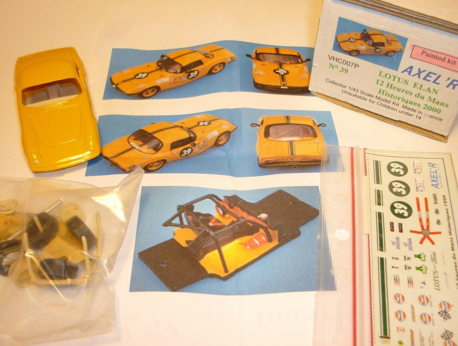 1 43  Lotus Elan  Bausatz   Kit  Resin   AXEL ' R  neu  Le Mans