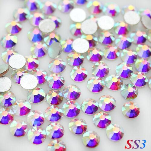 paquete de 3 25mm Atractivo oblongo Perla y Diamanté Envolvente Apliques//Motivo