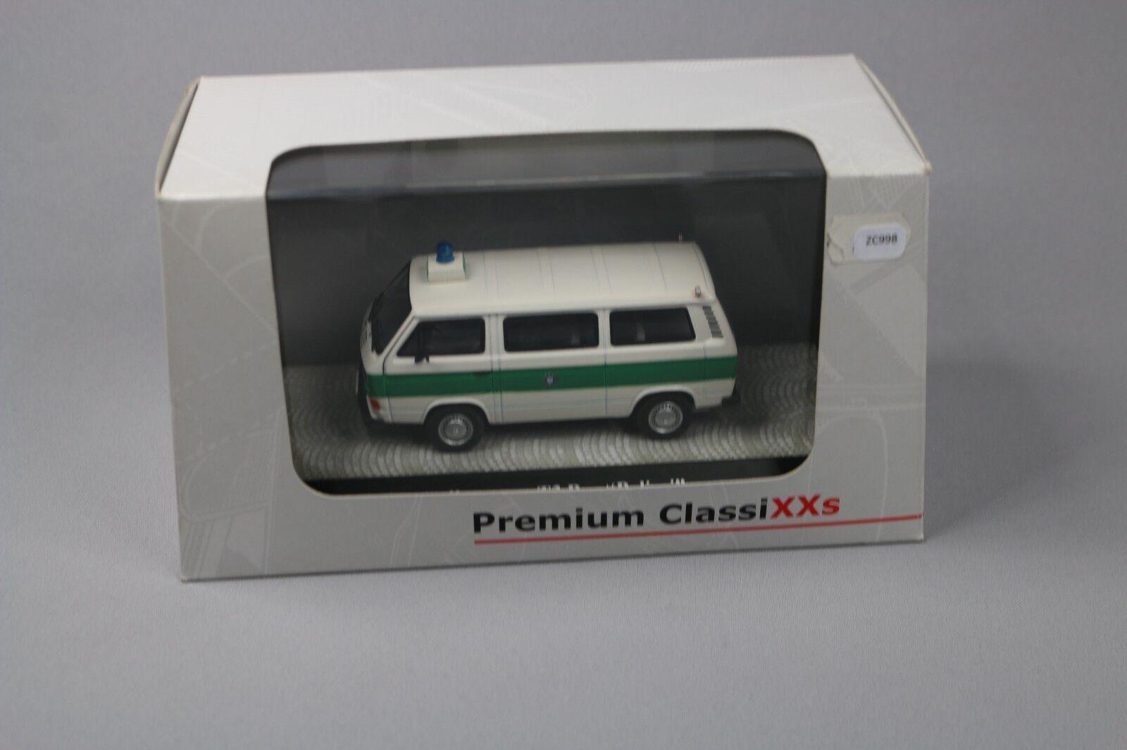 ZC998 Premium ClassiXXs 11458 Miniature fourgon 1 43 Volkswagen T3 Bus Polizei