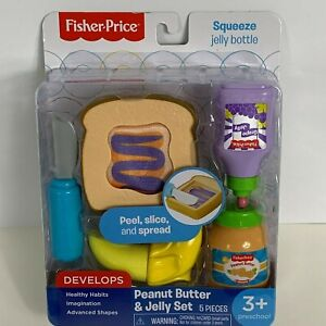 Fisher-Price-Pretend-Food-Play-Peanut-Butter-amp-Jelly-Set-Preschool-Learning-Toy