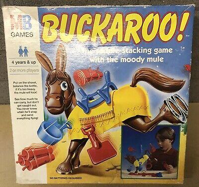 VINTAGE BUCKAROO GAME MB GAMES 1996 100% COMPLETE & WORKING MULES TAIL  BROKEN | eBay