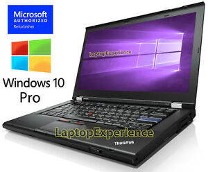 IBM-LENOVO-THINKPAD-T420-LAPTOP-i5-2-50ghz-4GB-320GB-DVDRW-Windows-10-PRO-WEBCAM