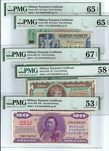 Military-Payment-Certificate-MPC-Series-692-Partial-Set-Exceptional-Quality