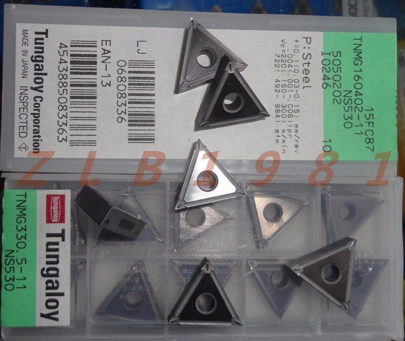 10Pcs NEW- Tungaloy ceramic blade TNMG160402-11 NS530